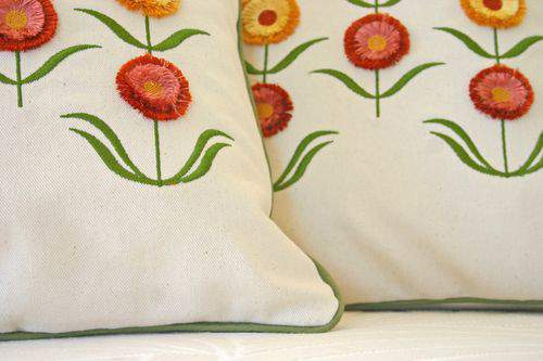 Blog flower pillow bottom