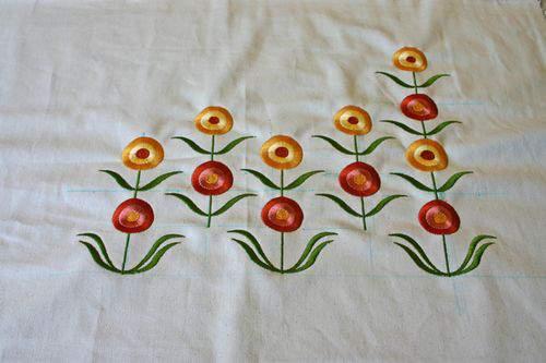 Blog flower pillow canvas