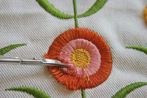 Blog flower pillow fringe