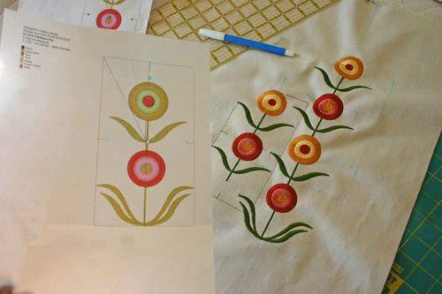 Blog flower pillow template2