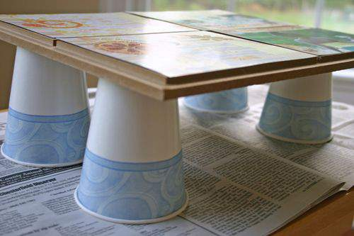 Blog tile scrapbooking cups
