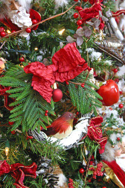 Holiday Trees, Wreath Ornaments and Feathered Friends