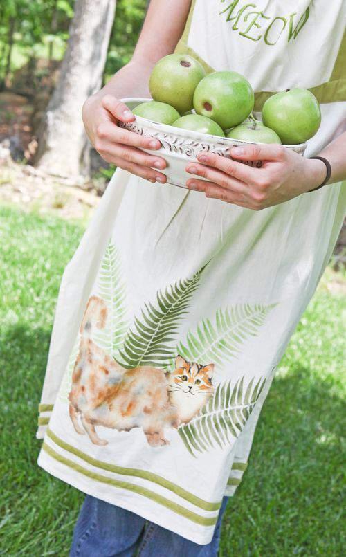 stenciled apron