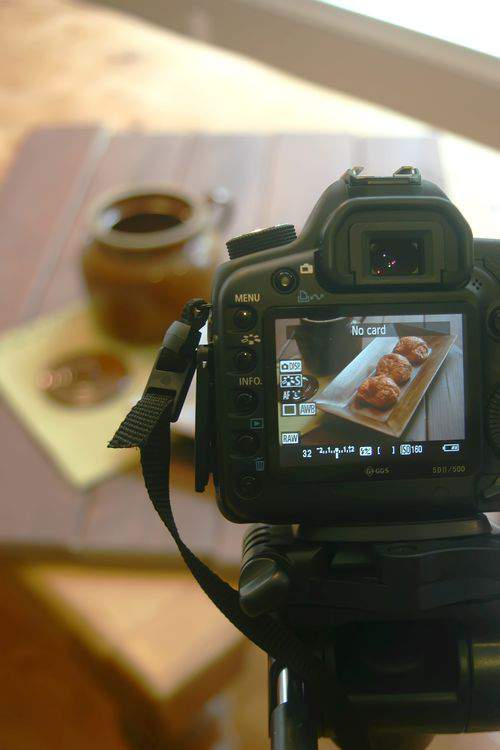 Blog food styling camera