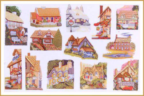 Blog pincusion cottage scenes frame