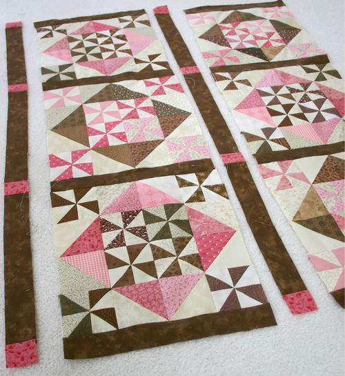 Pink quilt blocks