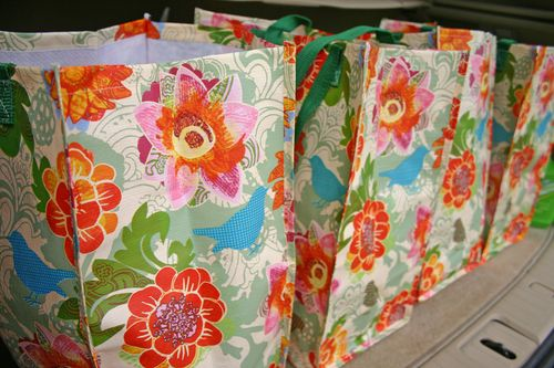Green bags floral