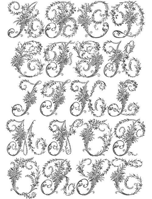 Victorian embroidery letters