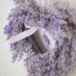 lavender heart wreath