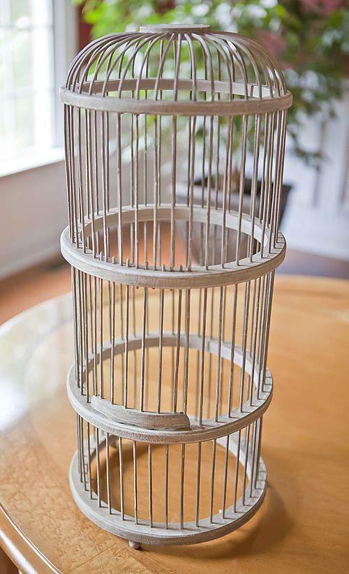 Wooden bird cage