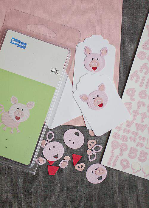 Piggie pop label supplies