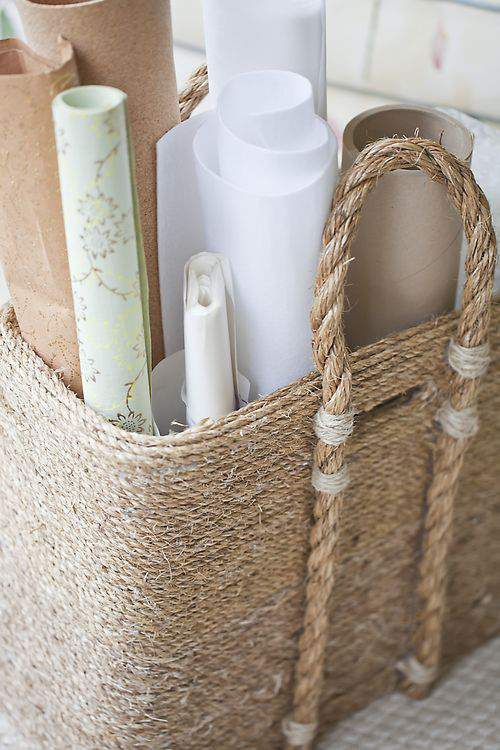 basket as storage