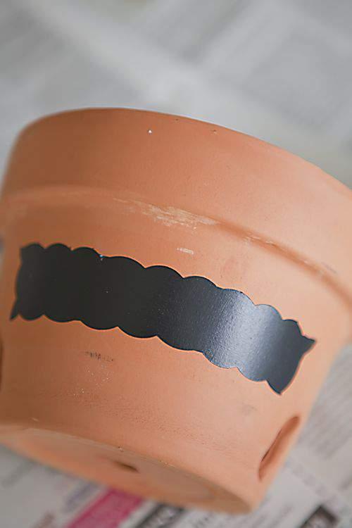 chalkboard paint label