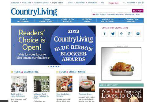 Country Living website