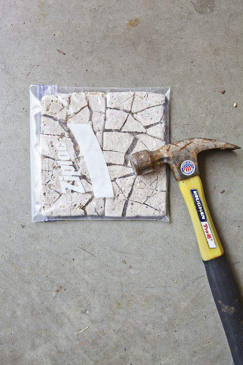 breaking tile