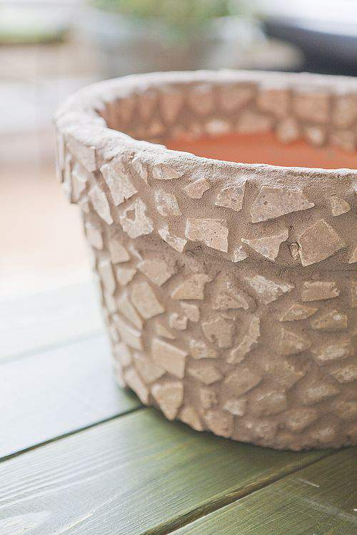 mosaic tile container pot