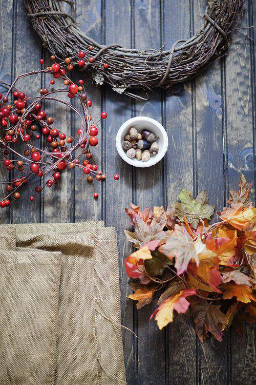 Autumn wreath supplies