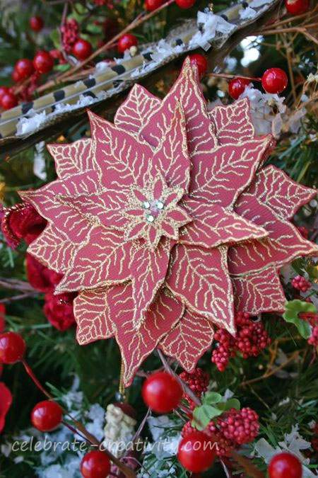 handcrafted poinsettia project