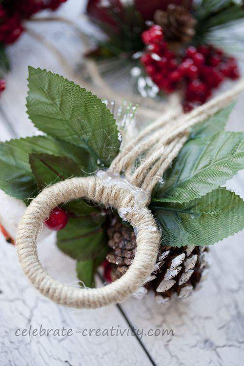 ring, holly and leaves