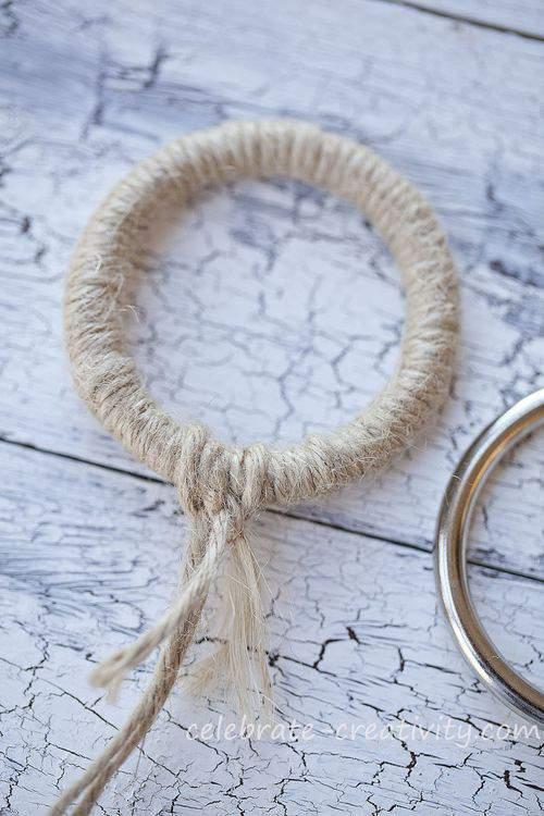 jute wrapped metal ring