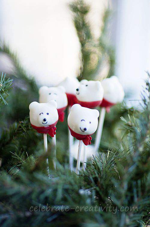 cake pop polar bears