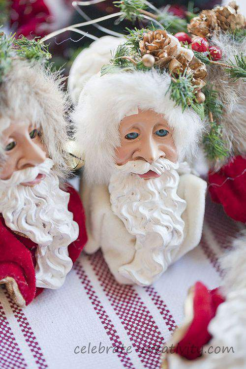 clay santa ornaments