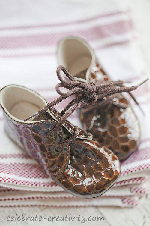snakeskin baby shoes