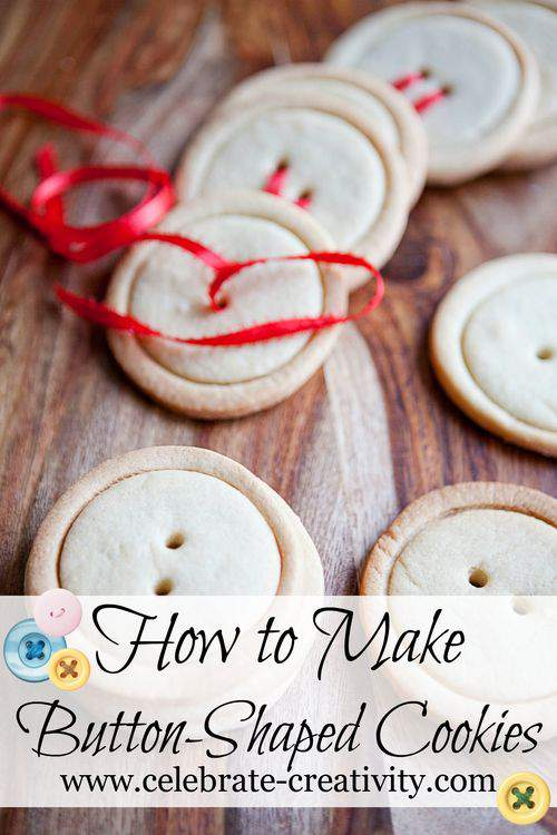 Make button shaped cookies2