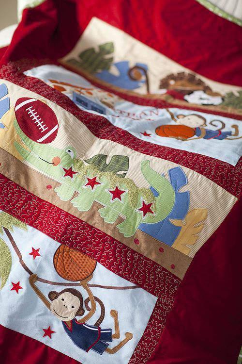 baby bumper quilt panels