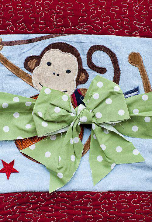 baby bumper quilt bow