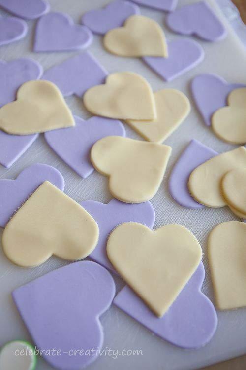 fondant hearts