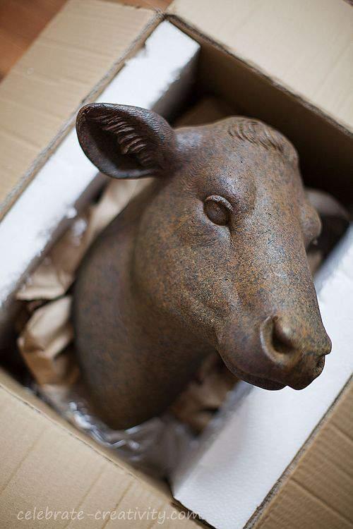 stone heifer head