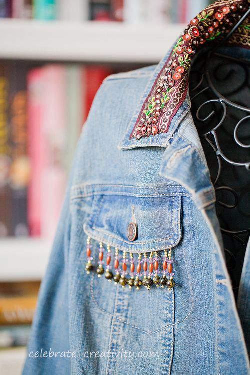 beaded jean jacket