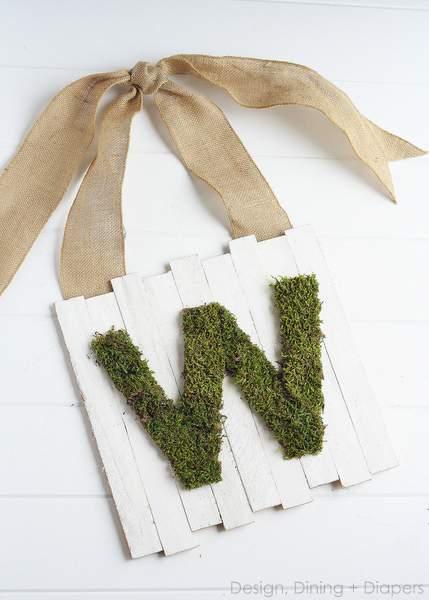 Design, Dining + Diapers Moss Door Sign
