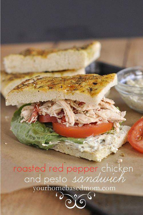 Your Homebased Mom Chicken and Pesto Sandwich