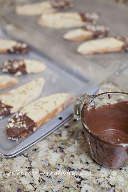 biscotti and chocolate