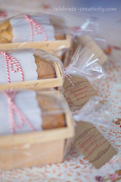 banana bread gift bags