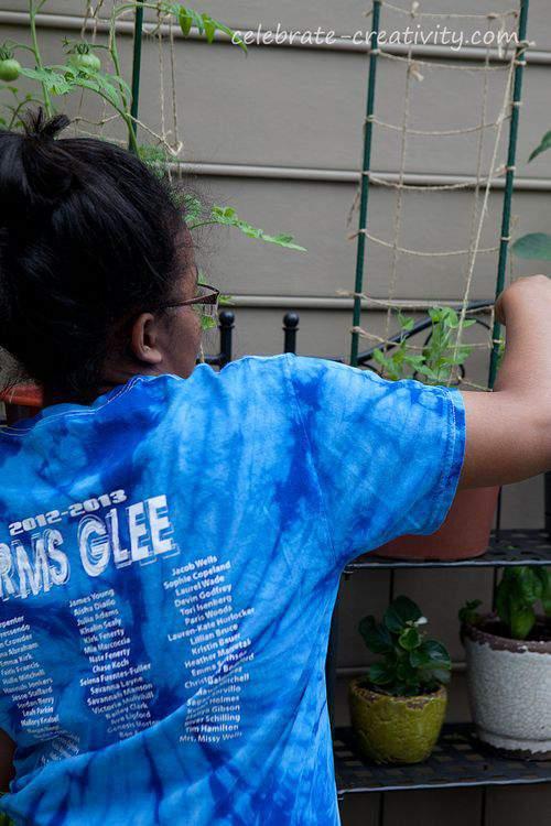 Cameron gardening