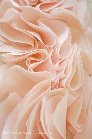 Peach ruffles