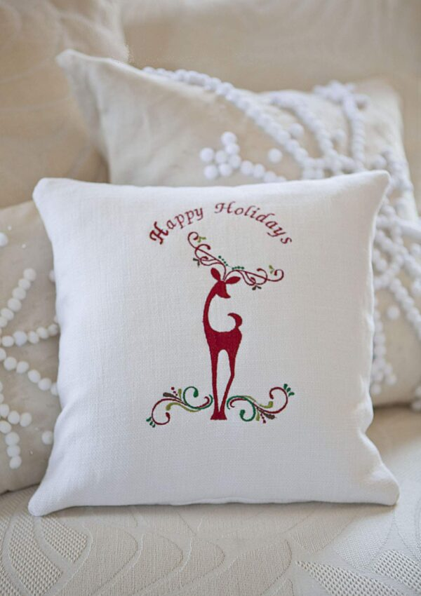 Decorative Reindeer Pillow  COUNTDOWN TO CHRISTMAS HOLIDAY SERIES Day 18