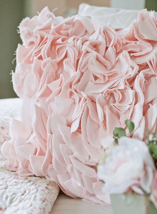 Peach PillowLotsa Ruffles