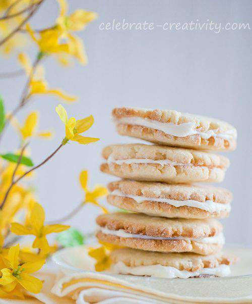 stack of lemon citrus cookies