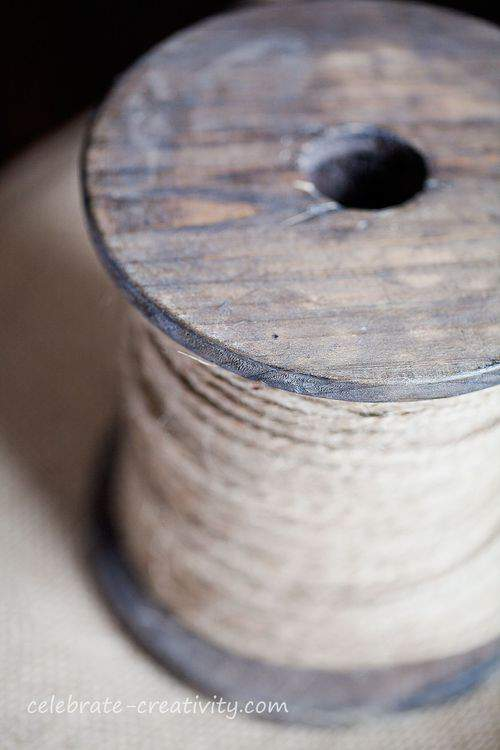 wooden string spool
