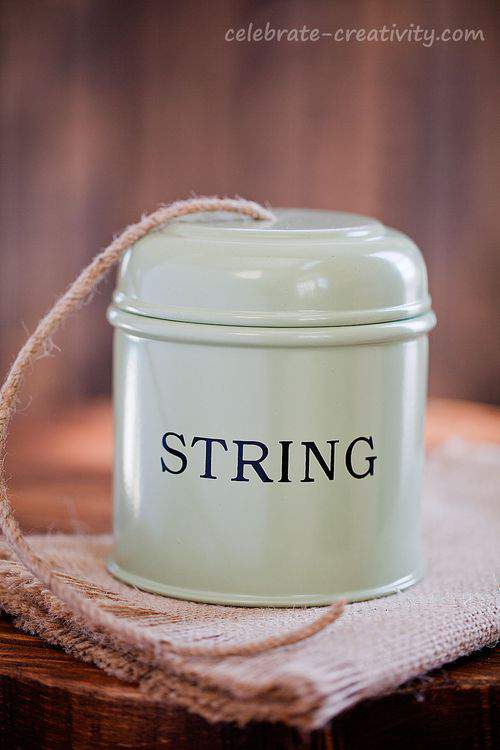 tin string container