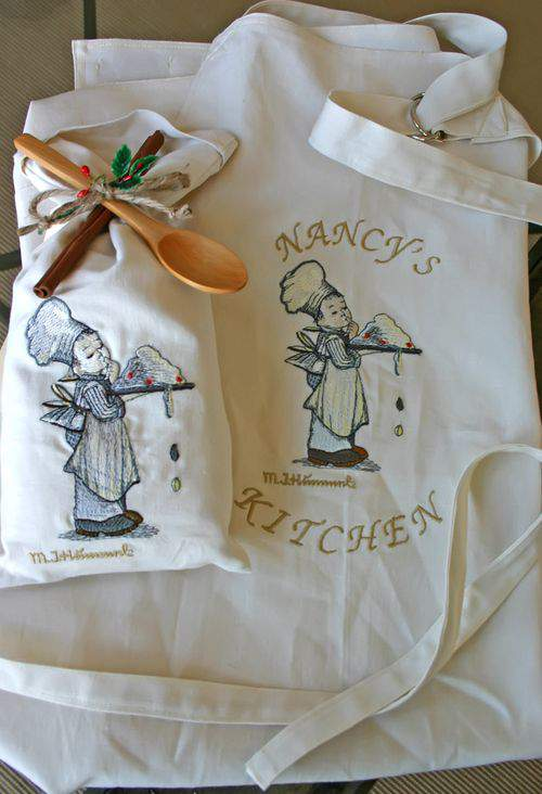 Cook sack embroidery and apron
