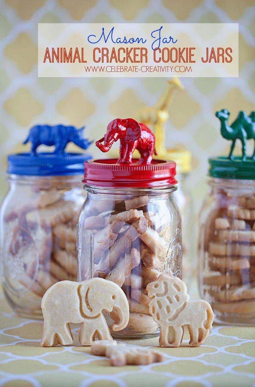 Mason Jar Animal Cracker Cookie Jar