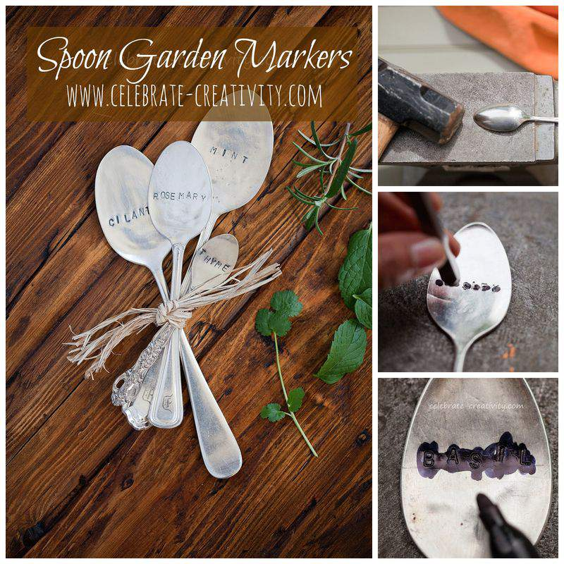 Spoon garden marker graphic
