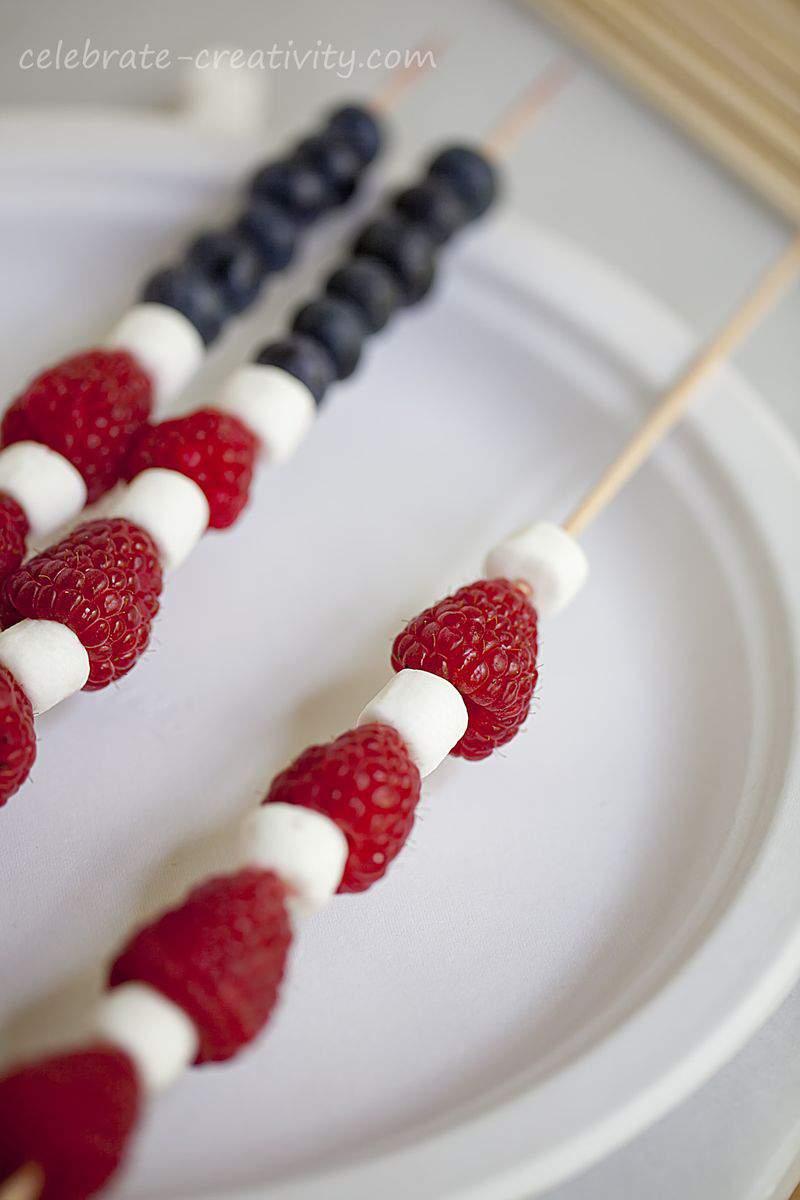 Berry flag skewers