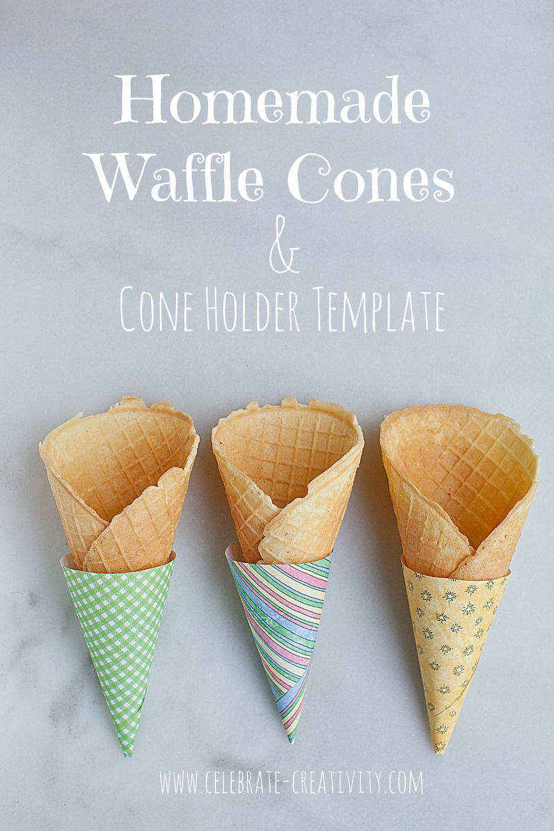 Waffle cone template graphic