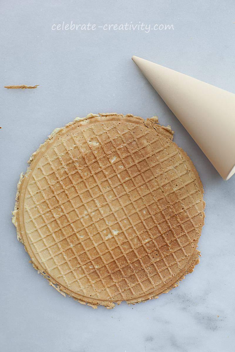Waffle cones flat